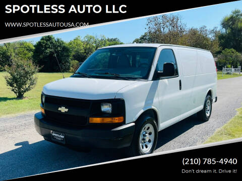 2014 Chevrolet Express Cargo for sale at SPOTLESS AUTO LLC in San Antonio TX