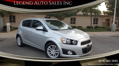 2012 Chevrolet Sonic for sale at Legend Auto Sales Inc in Lemon Grove CA