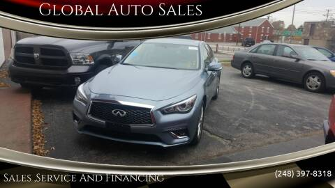 2018 Infiniti Q50 for sale at Global Auto Sales in Hazel Park MI