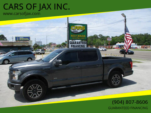 2015 Ford F-150 for sale at CARS OF JAX INC. in Jacksonville FL
