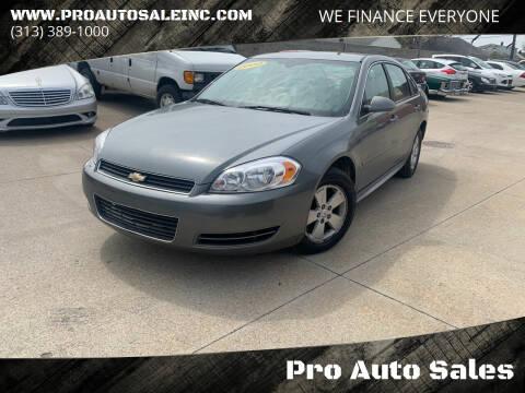 2009 Chevrolet Impala for sale at Pro Auto Sales in Lincoln Park MI
