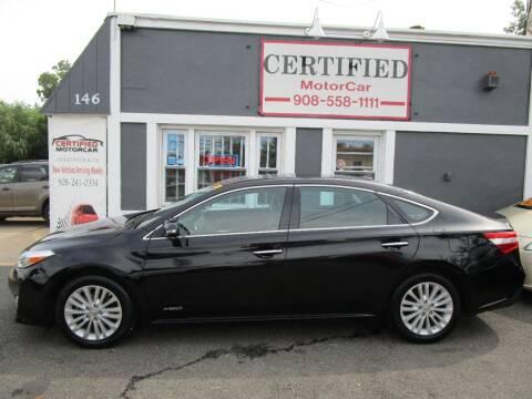 2013 Toyota Avalon Hybrid for sale at CERTIFIED MOTORCAR LLC in Roselle Park NJ
