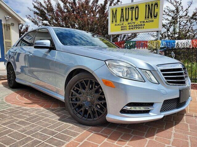 2013 Mercedes-Benz E-Class for sale at M AUTO, INC in Millcreek UT