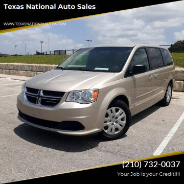 2016 Dodge Grand Caravan for sale at Texas National Auto Sales in San Antonio TX