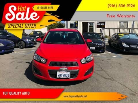 2014 Chevrolet Sonic for sale at TOP QUALITY AUTO in Rancho Cordova CA
