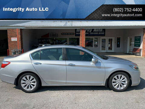 2013 Honda Accord for sale at Integrity Auto LLC - Integrity Auto 2.0 in St. Albans VT
