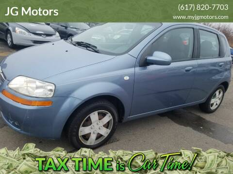 2006 Chevrolet Aveo for sale at JG Motors in Worcester MA