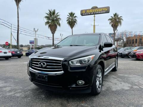 2013 Infiniti JX35 for sale at A MOTORS SALES AND FINANCE - 10110 West Loop 1604 N in San Antonio TX
