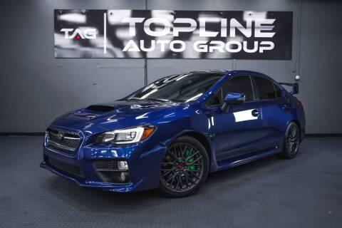 2016 Subaru WRX for sale at TOPLINE AUTO GROUP in Kent WA