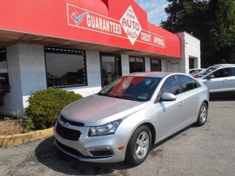 2015 Chevrolet Cruze for sale at Oak Park Auto Sales in Oak Park MI