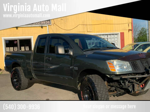 2004 Nissan Titan for sale at Virginia Auto Mall in Woodford VA