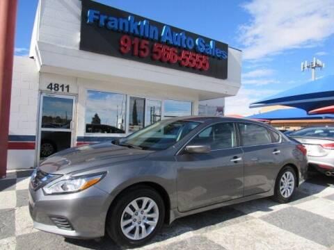 2017 Nissan Altima for sale at Franklin Auto Sales in El Paso TX