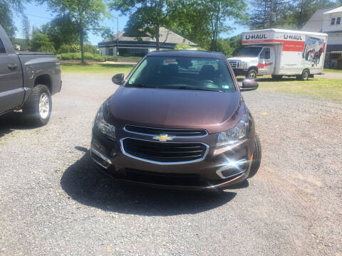 2015 Chevrolet Cruze for sale at K B Motors in Clearfield PA