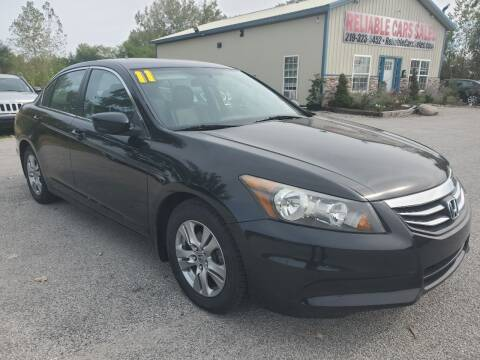 2011 Honda Accord for sale at Reliable Cars Sales in Michigan City IN
