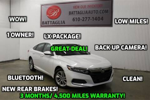 2018 Honda Accord for sale at Battaglia Auto Sales in Plymouth Meeting PA