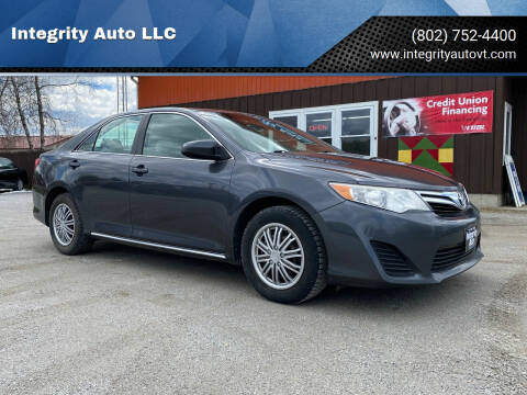 2013 Toyota Camry for sale at Integrity Auto LLC - Integrity Auto 2.0 in St. Albans VT
