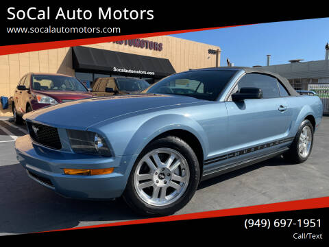 2006 Ford Mustang for sale at SoCal Auto Motors in Costa Mesa CA