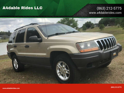 2001 Jeep Grand Cherokee for sale at A4dable Rides LLC in Haines City FL