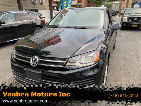 2012 Volkswagen Touareg for sale at Vanbro Motors Inc in Staten Island NY
