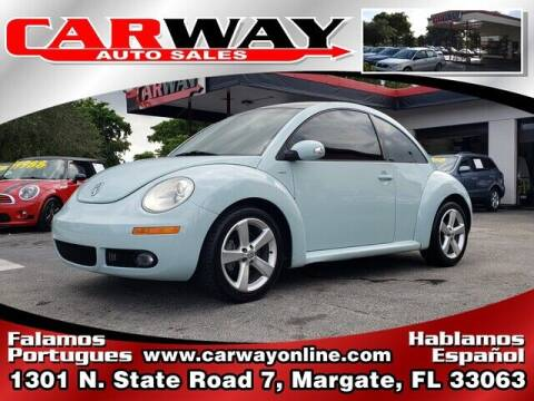 2010 Volkswagen New Beetle for sale at CARWAY Auto Sales in Margate FL