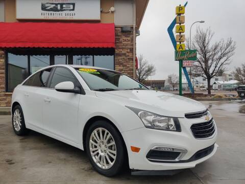 2015 Chevrolet Cruze for sale at 719 Automotive Group in Colorado Springs CO