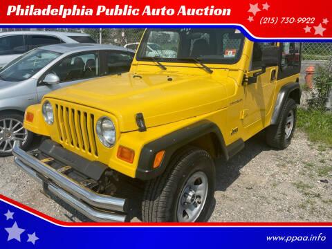 2001 Jeep Wrangler for sale at Philadelphia Public Auto Auction in Philadelphia PA
