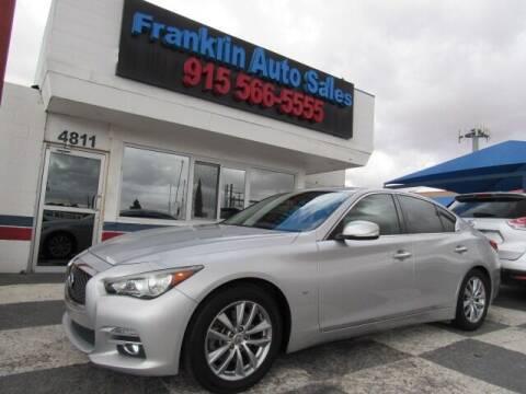 2014 Infiniti Q50 for sale at Franklin Auto Sales in El Paso TX