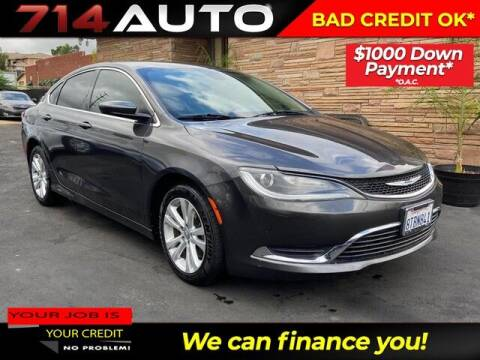 2015 Chrysler 200 for sale at 714 Auto in Orange CA