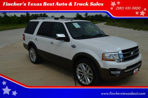 2017 Ford Expedition for sale at Fincher's Texas Best Auto & Truck Sales in Tomball TX