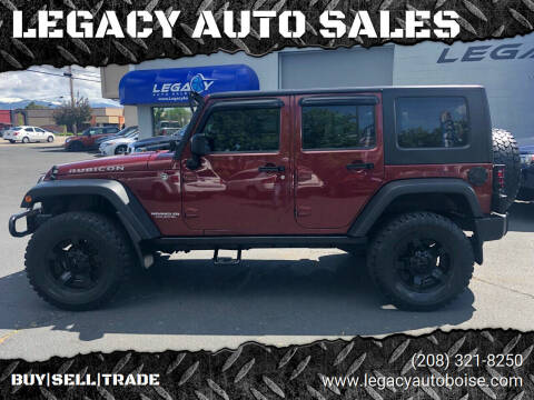 2008 Jeep Wrangler Unlimited for sale at LEGACY AUTO SALES in Boise ID
