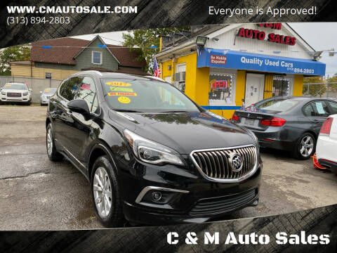 2017 Buick Envision for sale at C & M Auto Sales in Detroit MI
