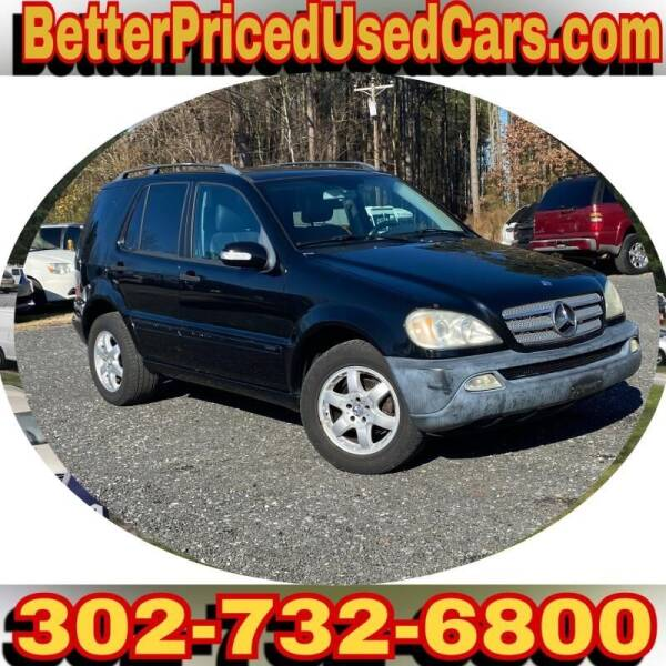 2003 Mercedes-Benz M-Class for sale at Better Priced Used Cars in Frankford DE