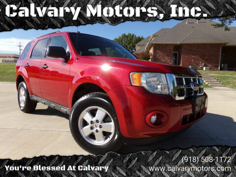 2011 Ford Escape for sale at Calvary Motors, Inc. in Bixby OK