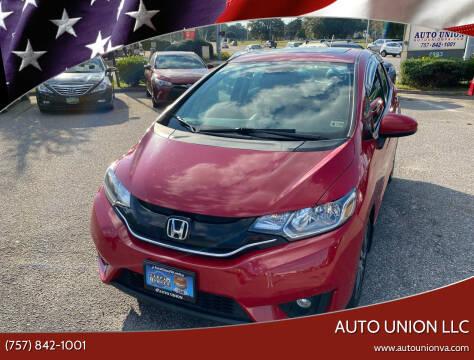 2015 Honda Fit for sale at Auto Union LLC in Virginia Beach VA