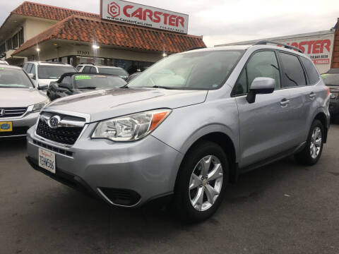 2014 Subaru Forester for sale at CARSTER in Huntington Beach CA