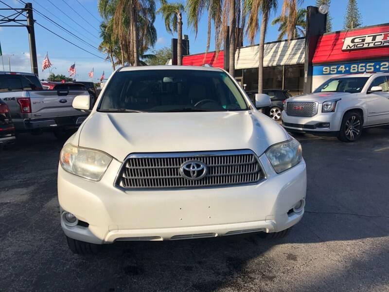 2008 Toyota Highlander Hybrid for sale at Gtr Motors in Fort Lauderdale FL