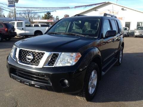 2011 Nissan Pathfinder for sale at Steves Auto Sales in Cambridge MN