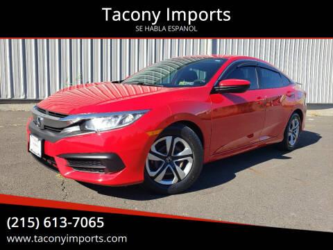 2016 Honda Civic for sale at Tacony Imports in Philadelphia PA