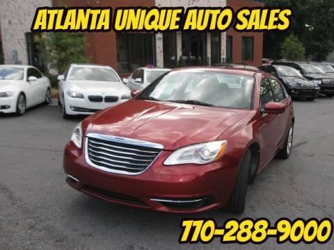 2013 Chrysler 200 for sale at Atlanta Unique Auto Sales in Norcross GA