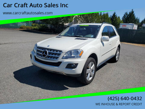 2009 Mercedes-Benz M-Class for sale at Car Craft Auto Sales Inc in Lynnwood WA