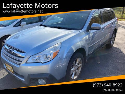 2013 Subaru Outback for sale at Lafayette Motors in Lafayette NJ