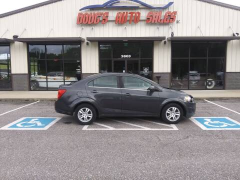 2016 Chevrolet Sonic for sale at DOUG'S AUTO SALES INC in Pleasant View TN