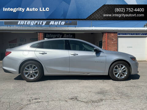 2016 Chevrolet Malibu for sale at Integrity Auto LLC - Integrity Auto 2.0 in St. Albans VT