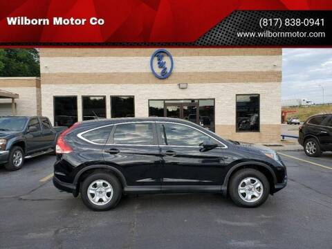 2013 Honda CR-V for sale at Wilborn Motor Co in Fort Worth TX