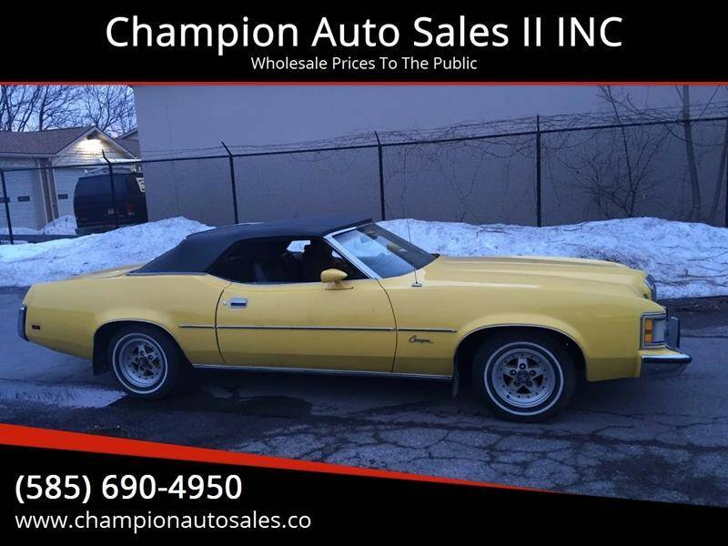 1973 Mercury Cougar for sale at Champion Auto Sales II INC in Rochester NY