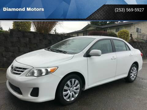 2013 Toyota Corolla for sale at Diamond Motors in Lakewood WA