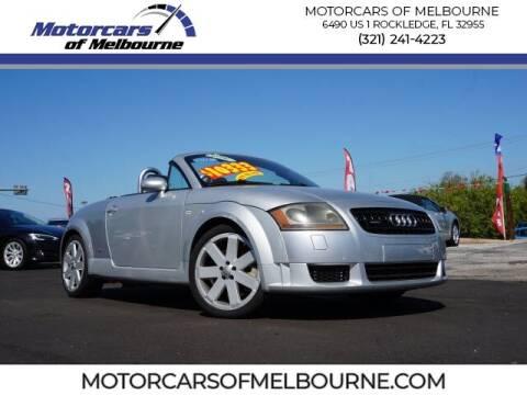 2006 Audi TT for sale at Motorcars of Melbourne in Rockledge FL