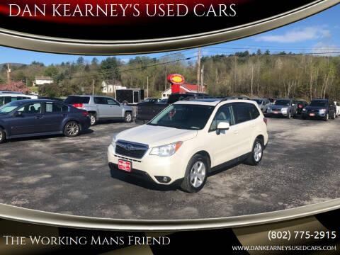 2014 Subaru Forester for sale at DAN KEARNEY'S USED CARS in Center Rutland VT