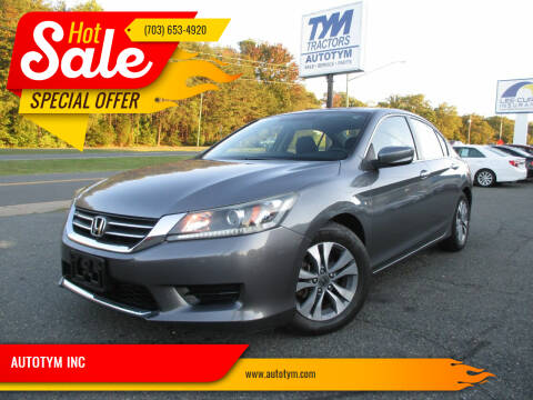 2014 Honda Accord for sale at AUTOTYM INC in Fredericksburg VA