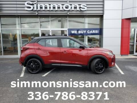 2021 Nissan Kicks for sale at SIMMONS NISSAN INC in Mount Airy NC